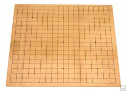 1 cm reversible bamboo go game board, 13x13 board on reverse side